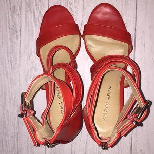 Antonio Melani Red Strappy Heels/Pumps